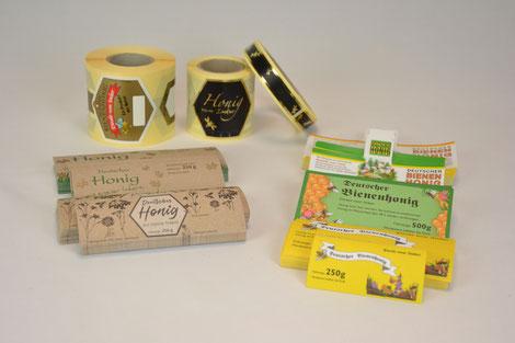 Etiketten Honigglasetikett Honigetikett