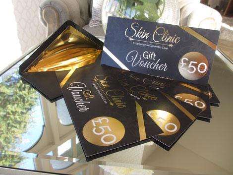Skin clinic gift vouchers