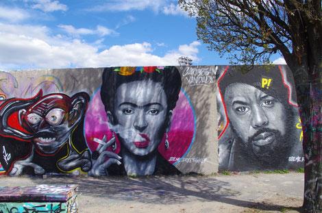 Frida Kahlo , Streetart in Berlin