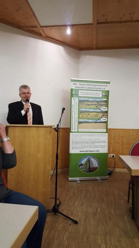 Referent Hr. Bittelmayer - Amtschef Ministerium Landwirtschaft und Forsten in München