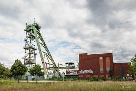 Bergwerk Zeche Hansa Schacht 3 in Dortmund, Ruhrgebiet, Deutschland, Industriekultur, Industrie, Zechen, Bergbau, Steinkohle