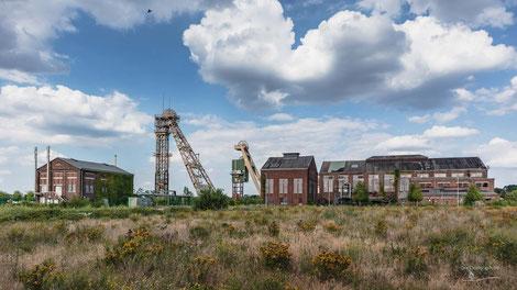 Zeche Niederberg in Neukirchen-Vluyn, Ruhrgebiet, Deutschland, Industriekultur, Industrie, Zechen, Bergbau, Steinkohle