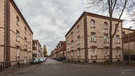Dichterviertel, Duisburg, Ruhrgebiet, Deutschland, Industriekultur, Industrie, Arbeitersiedlungen, Zechensiedlungen, Arbeiterkolonien