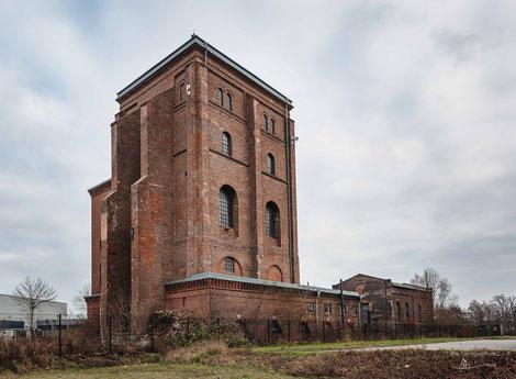 Malakowturm der Zeche Fürst Hardenberg in Dortmund, Ruhrgebiet, Deutschland, Industriekultur, Industrie, Zechen, Bergbau, Steinkohle