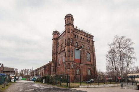 Malakowturm der Zeche Westhausen in Dortmund, Ruhrgebiet, Deutschland, Industriekultur, Industrie, Zechen, Bergbau, Steinkohle