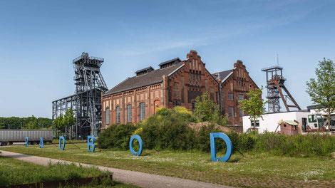 Zeche Radbod, Schacht 1+2 in Hamm, Industriekultur, Industrie, Zechen, Bergbau, Steinkohle