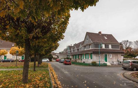 Arbeitersiedlung Kolonie Johannenhof, Duisburg, Ruhrgebiet, Deutschland, Industriekultur, Industrie, Arbeitersiedlungen, Zechensiedlungen, Arbeiterkolonien