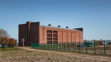 Zeche Pattberg Maschinenhaus Schacht 1 in Moers, Ruhrgebiet, Deutschland, Industriekultur, Industrie, Zechen, Bergbau, Steinkohle