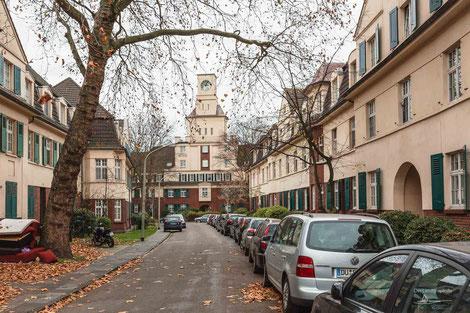 Arbeitersiedlung Hüttenheim, Duisburg, Ruhrgebiet, Deutschland, Industriekultur, Industrie, Arbeitersiedlungen, Zechensiedlungen, Arbeiterkolonien