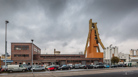 Bergwerk Zeche Monopol in Bergkamen, Schacht Grimbergen 2, Ruhrgebiet, Deutschland, Förderturm, Industriekultur, Industrie, Zechen, Bergbau, Steinkohle