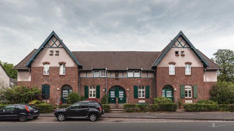 Arbeitersiedlung Kolonie Meerbeck, Moers, Ruhrgebiet, Deutschland, Industriekultur, Industrie, Arbeitersiedlungen, Zechensiedlungen, Arbeiterkolonien