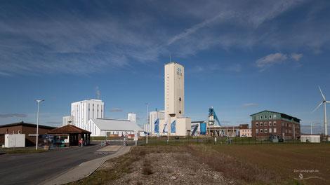 Salzbergwerk Borth in Rheinberg, Deutschland, Industriekultur, Industrie, Bergbau, Salzbergwerk, Zechen