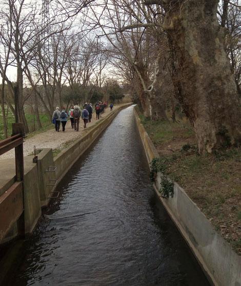 Marche de Randos Canetoises le long du canal d'Auchan le 27 mars 2018  de Perpignan à Canohès