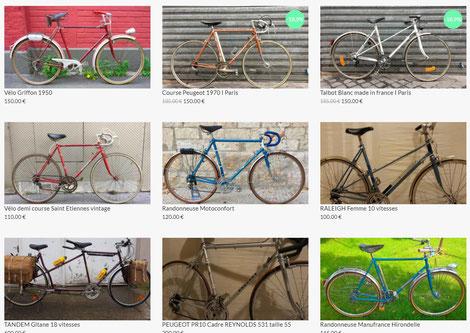 vélos vintage en vente sur belleroue