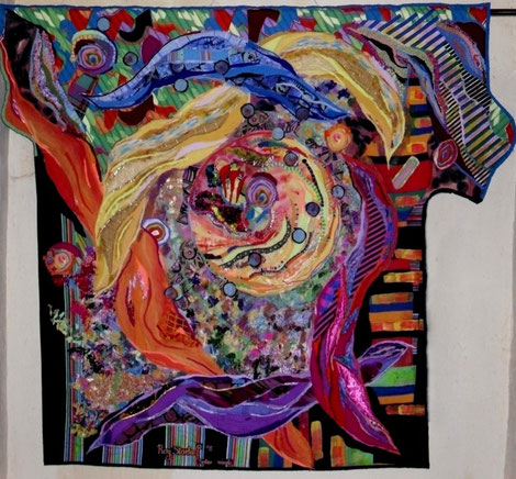 SOLAR WINDS QUILT (for sale)