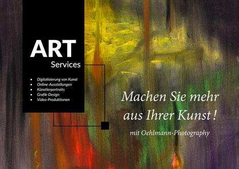 Banner, Broschüre Art-Services, Dr. Ralph Oehlmann, Oehlmann-Photography