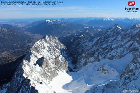 foto-webcam.de, Zugspitze, Blick nach Osten, 22.02.2020 um 09:30,