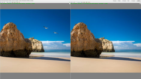 Screenshot, FastStone Image Viewer, side-by-side Bildvergleich, Dr. Ralph Oehlmann, Oehlmann-Photography