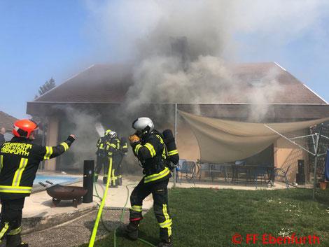 Feuerwehr, Blaulicht, Brand, FF Ebenfurth, Stadtgebiet