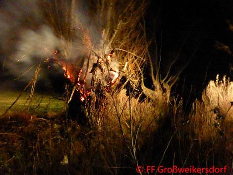 Feuerwehr; Blaulicht; FF Großweikersdorf; Brand; Güterweg; Flurbrand;