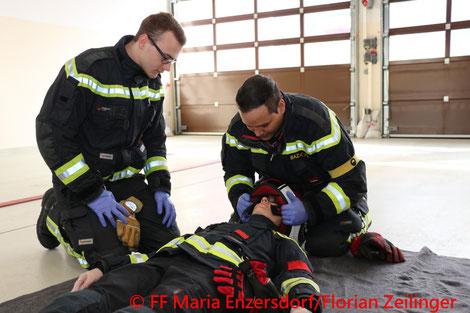 Feuerwehr, Blaulicht, Ausbildungsprüfung Technischer Einsatz, Maria Enzersdorf