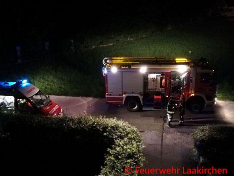 Feuerwehr, Blaulicht, Laakirchen, Brand, Schaltschrank