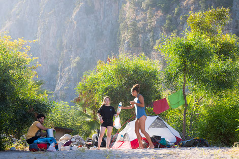 Campsite in the Butterfly valley