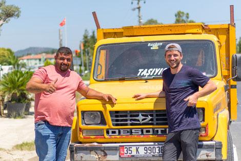 Truck driver Serdaf and Bastian