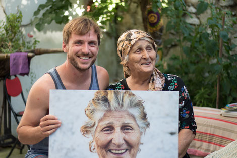 Bastian with one of the wise woman of Barbaros
