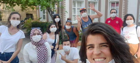Students of the youth center in Izmir