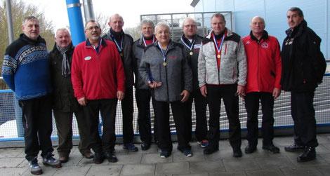 Siegerfoto Bezirkspokal Ü50 Winter 2017/2018