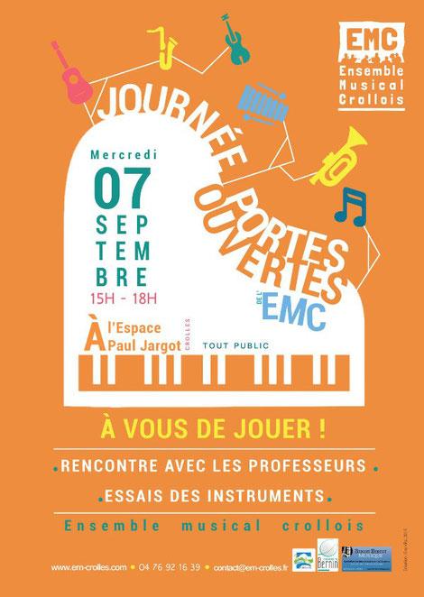 ecole de musique emc crolles-gresivaudan : journée portes ouvertes de septembre 2016