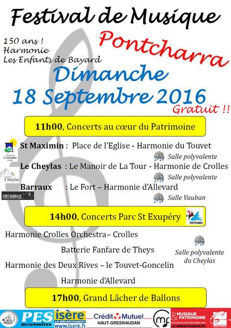 Ecolde de musique à crolles - gresivaudan : affiche concert harmo pontcharra