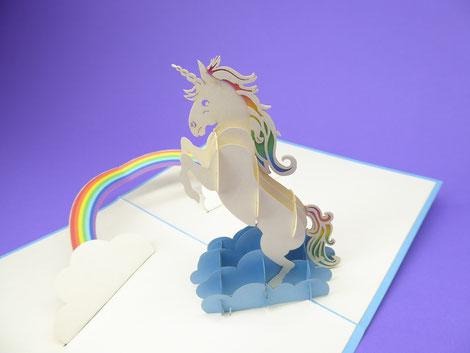 Carte pop-up Licorne 3D