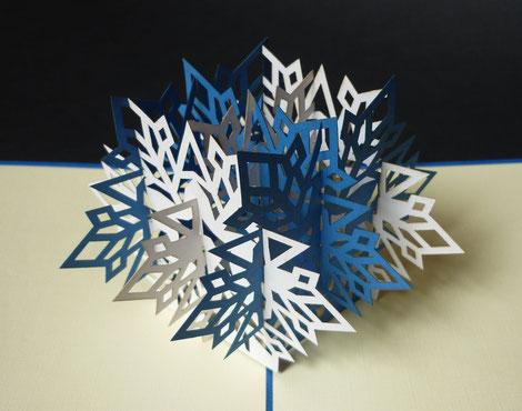 Carte Pop-Up 3D Flocon
