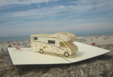 Carte Pop-Up camping car