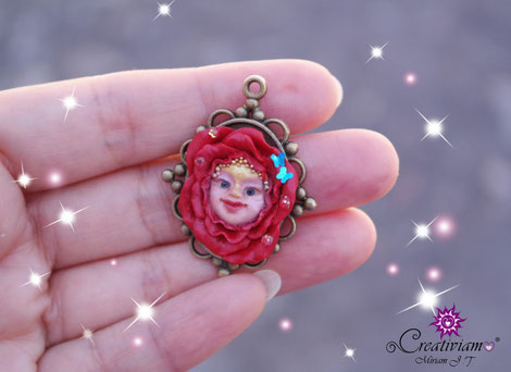 creación de arcilla, rosa en camafeo, polymer clay rose necklace, fimo rose, creativiam tutorial, polymer clay rose, polymer clay rose tutorial,