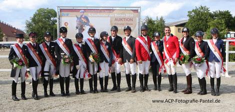 Medaillenträger 2016 Junge Reiter - Reiter, Foto: ACP-Pantel