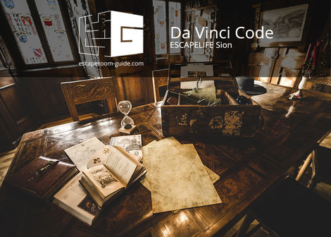 Da Vinci Code, escapelife on escaperoom-guide.com