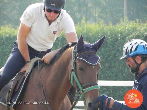 Sicurezza a cavallo lavoro in sella con Francesco Vedani
