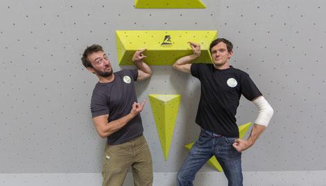 GF Daniel Harnest und Bruno Vacka von der Boulderhalle Salzburg freuen sich auf euch!