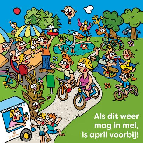 Dirk Van Bun Communicatie & Vormgeving - illustraties - tekeningen - cartoons - corona - mei - april
