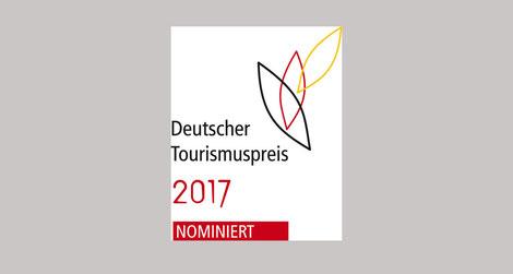Logo: Deutscher Tourismuspreis 2017 - Nominiert