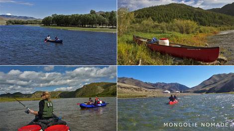 Mongolie en canoë