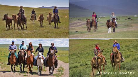 Randonnée équestre en Mongolie