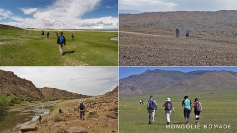 Randonnée pédestre en Mongolie
