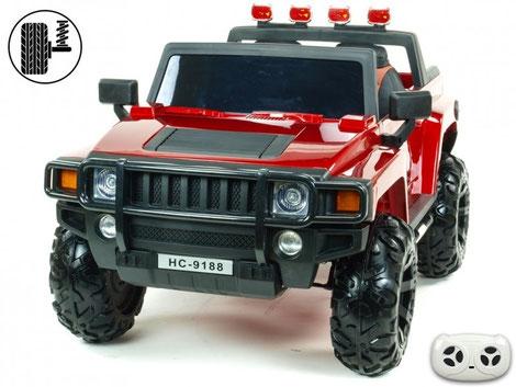 Simba HC 9118/Hummer/2 Sitzer/Kinderauto/Kinder Elektroauto/Kinder Fahrzeuge/weinrot metallic/