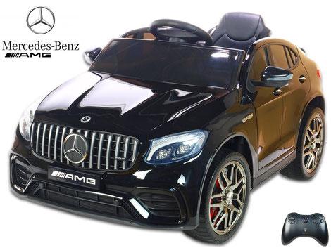 Mercedes/AMG GLC63 S/1 Sitzer/Kinderauto/Kinder Elektroauto/lizensiert/schwarz lackiert/