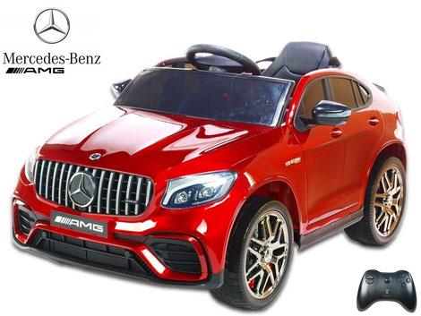 Mercedes/AMG GLC63 S/1 Sitzer/Kinderauto/Kinder Elektroauto/lizensiert/weinrot lackiert/