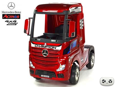 Mercedes/Actros/LKW/Sattelzugmaschine/2 Sitzer/Kinder LKW/Kinderauto/Kinder Elektroauto/lizensiert/weinrot lackiert/